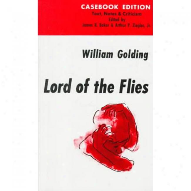 William Goldings Lord Of The Flies By William Golding, Isbn 0399506438