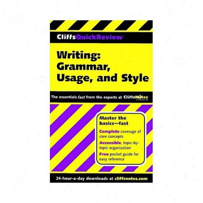 Writing: Grammar, Style, Usage By Cliffs Notes, Isnb 07645639399