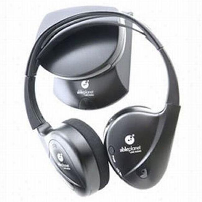 Cap~ Planet Sound Clarity Infrared Wireless Headphones With Dual Origin Transmitter