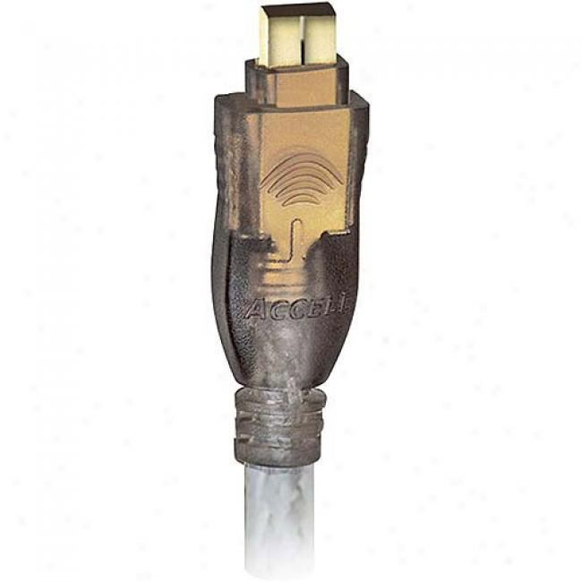 Accell Firewire Gold Series Cable (4-pin/4-pin) 6'