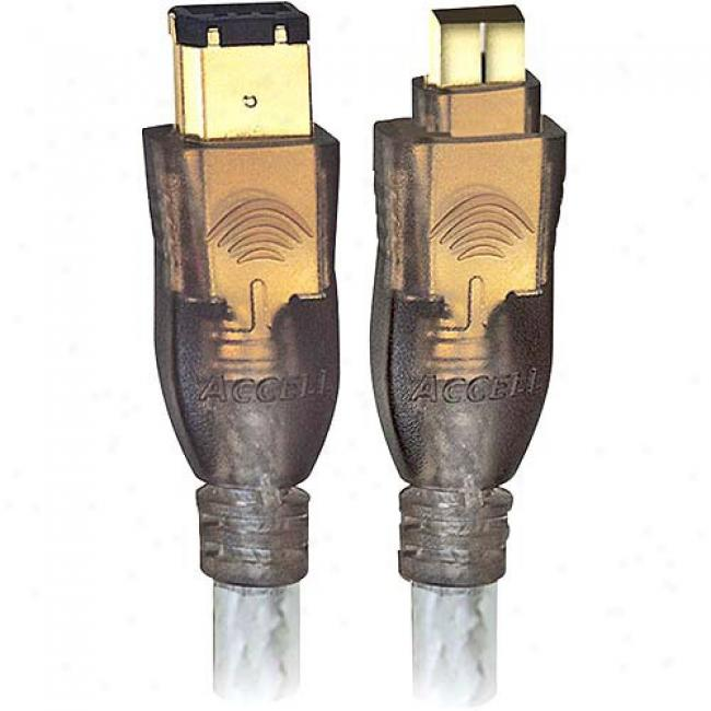 Accell Firewire Gold Series Cable (6-pin/4-pin) 14'