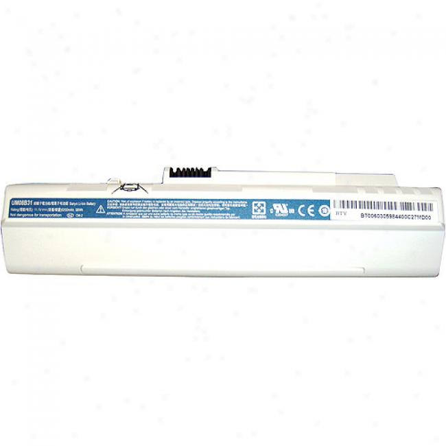 Acer Aspire One Mini-notebook 6-cell White Battery