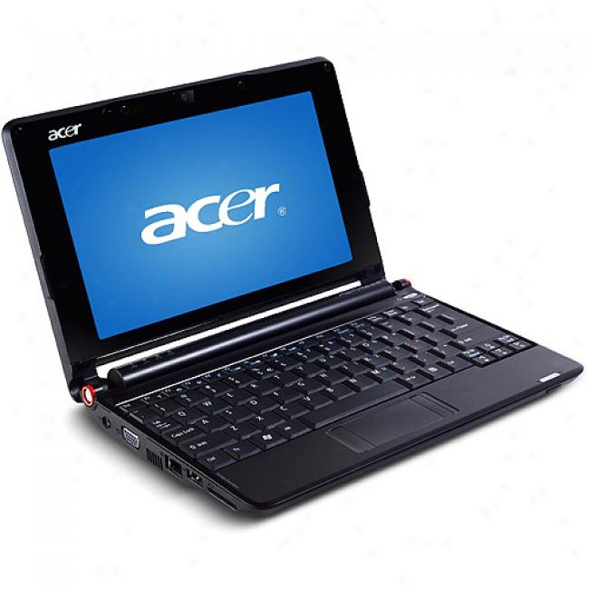 Acer Blackaspire One Aoa150-1049 Mini Laptop Pc Netbook With Intel Atom N270 Processor, 160gb Hard Drive, 6 Cell Batteryand Windows Xp