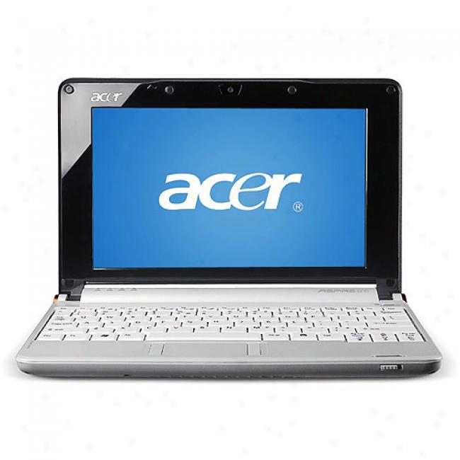 Acer Whiteaspir One Aoa150-1786 Mini Lzptop Pc Netbook Through  Intel Atom N270 Processor, 120gb Hard Drive And Windows Xp