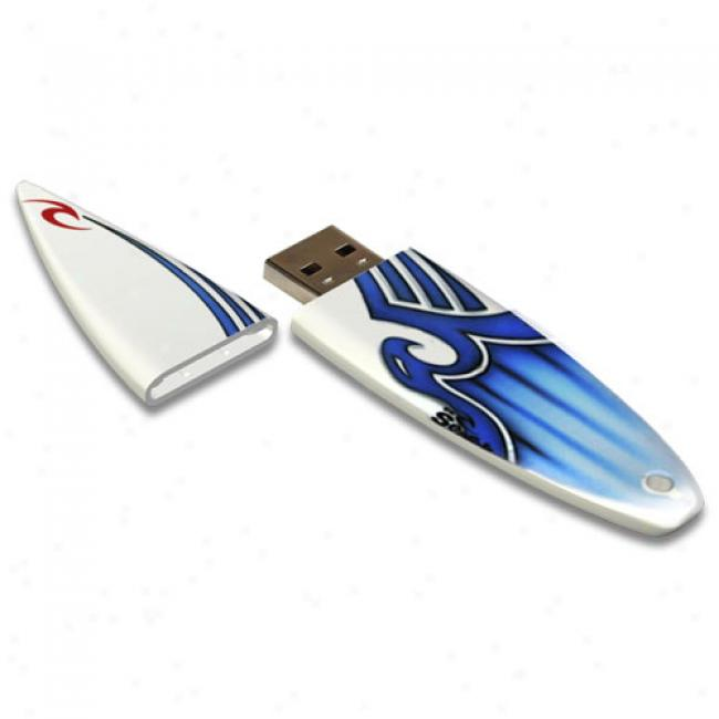 Acp-ep 2gb Rip Curl Prousb 2.0 Flash Drive, White & Blue