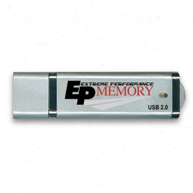 Acpp-ep 8gb Hi-speed Usb 2.0 Mini Flash Drive, Silver