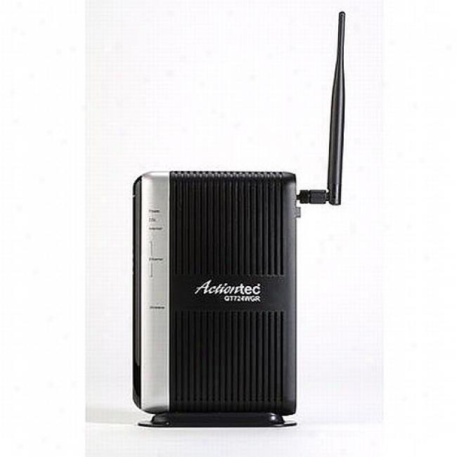 Actiontec Wireless Dsl Modem W/ 4-port Ethernet Router
