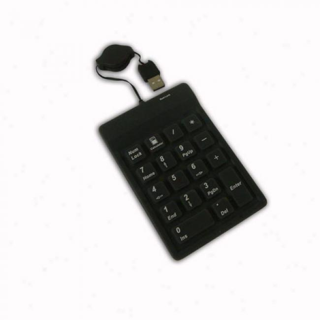 Adesso 18-key Waterproof Usb Keypad