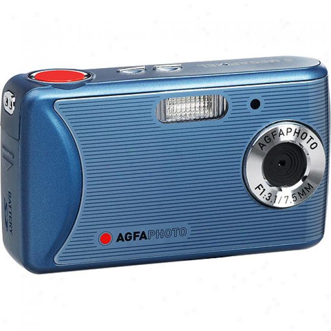 Agfaphoto 8mp Sensor Dc-510x Blue Digital Camera W/ 2.4