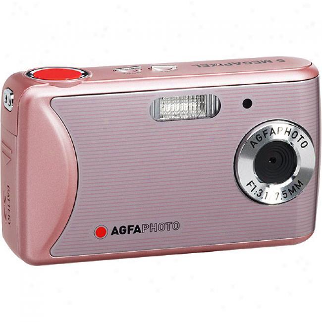Agfaphoto 8mp Sensor Dc-510x Pink Digital Camera W/ 2.4