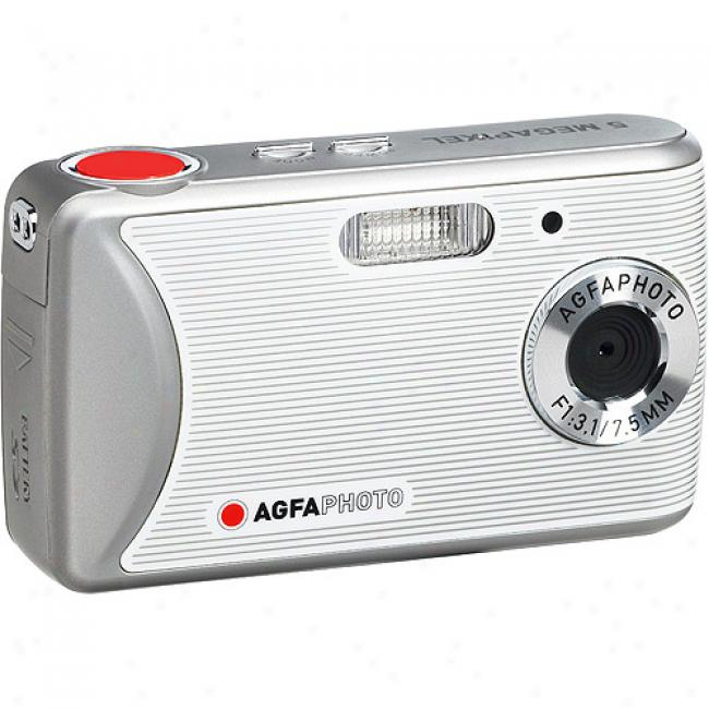 Agfaphoto 8mp Sensor Dc-510x Gentle Digital Camera W/ 2.4
