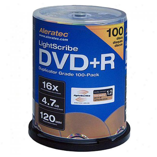 Aleratec Dvd+r Lightscribe Discs, 100-pack