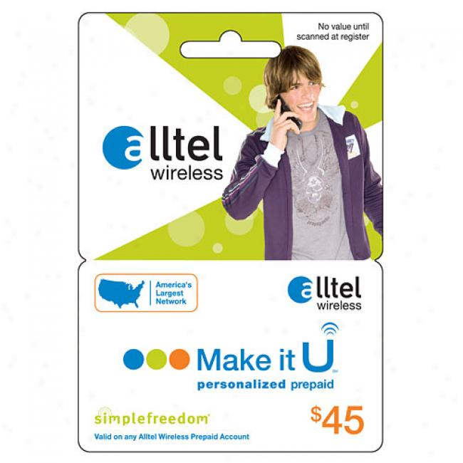 Alltel $45 U Prepaid Wireless Refill Card