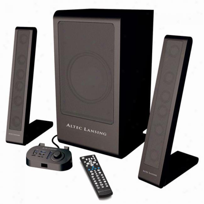 Altec Lansing Pt6021 3-piece Poewred Speaker System