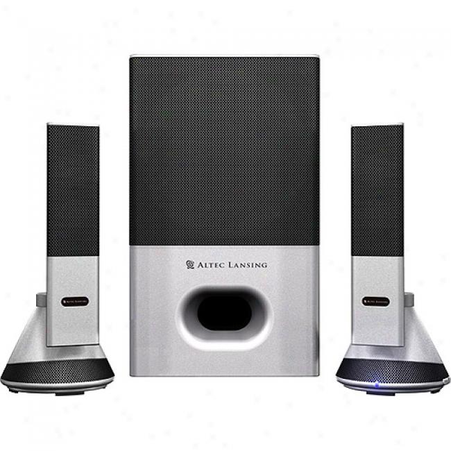 Altec Lansing Vs4221 3-piece 2.1 Powered Computer Speaker System
