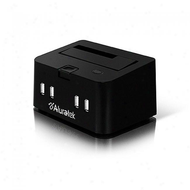 Aluratek Externai Docking Hub Enclosure For Usb 2.0 & Esata 2.5-3.5'' Hard Drives