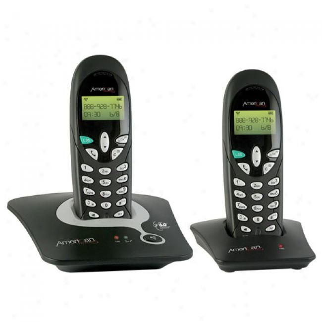 American Telecom Ats Dect 6.0 Cordless Phoe System W/2 Handsets, Ra22622h