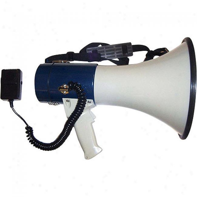 Amplivox 25-watt Piezo Dynamic Megaphone By the side of Detachable Handheld Coil Cord Mic