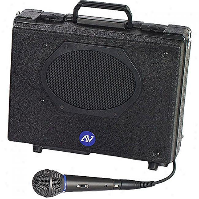 Amplivox Portable Buddy Public Address System - With Wired Mic
