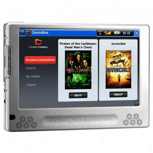Archos 705 80gb Mp3 Video Player With Wi-fi