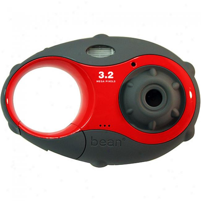 Argus 'bean' Red 3.2mp Carabiner Digital Camera