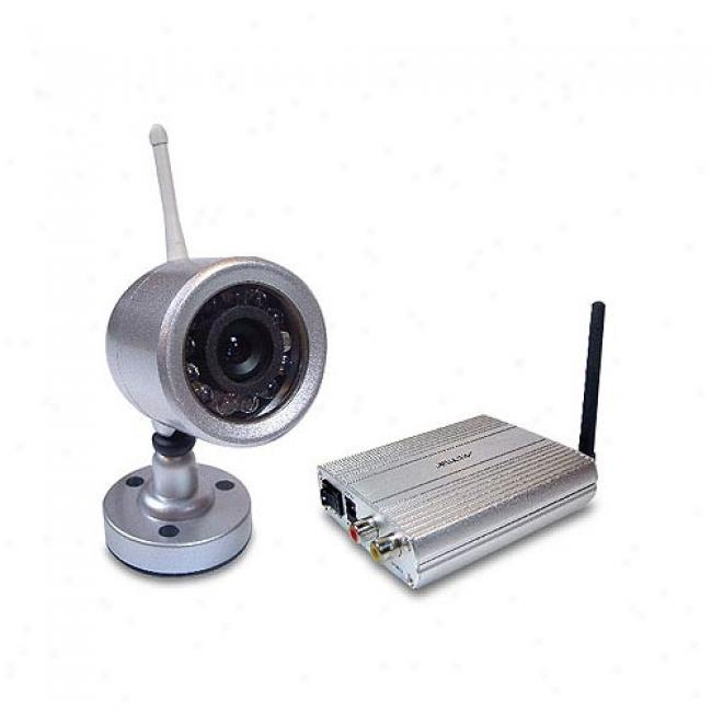 Astak Cm-812t Night Vision Weatherproof Wireless Color Security Camera, Cm-812t