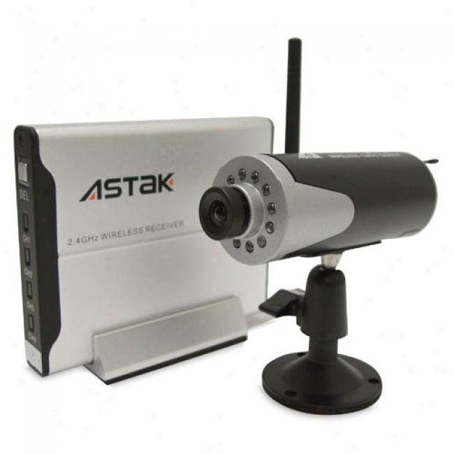 Astak Cm-840j Wireless Security Camera With Rechargeable Battery