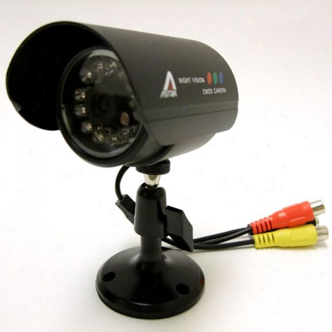 Astak Wired Weatherproof Night Vision Color Video Camera, Cm-818w
