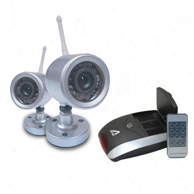 Astak Wireless Weatherproof Darkness Vision Color Security Camera Set