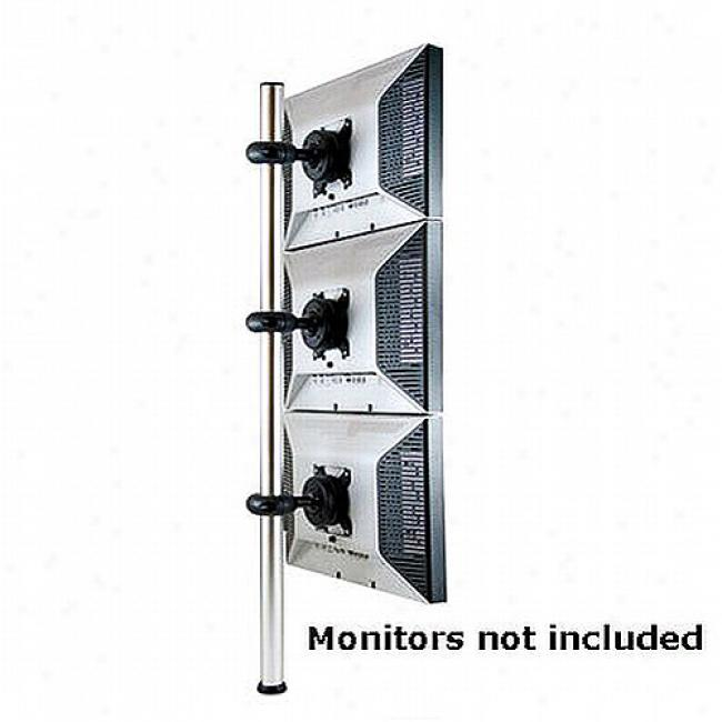 Atdec Triple-donut Polw Mount For Three Lcd Monitors