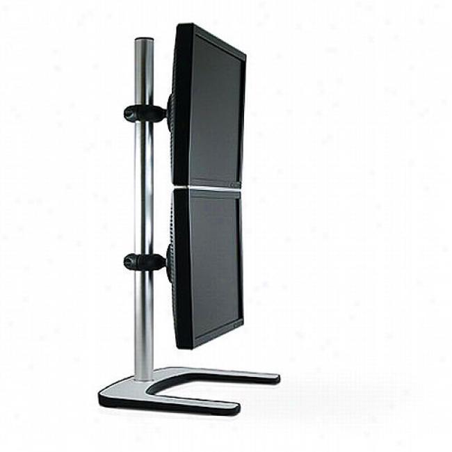 Atdec Visidec Freestanding Vertical Mount For 2 Lcd Monitors