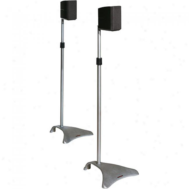 Atlantic Adjustable Satellite Speaker Stands - Titanium