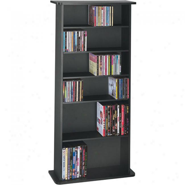 Atlantic Drawbridge 280-cd Wood Cabinet, Black