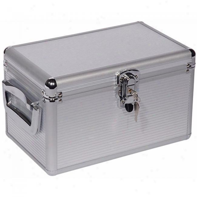 Atlantic Executive 200-cd Hzrd Case With Hanging Sleeves, Silver