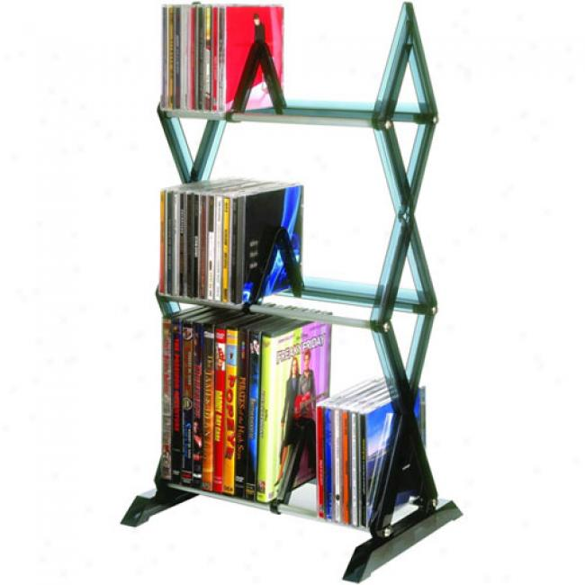 Atlantic Mitsu 78-cd Shelf Unit, Smoke