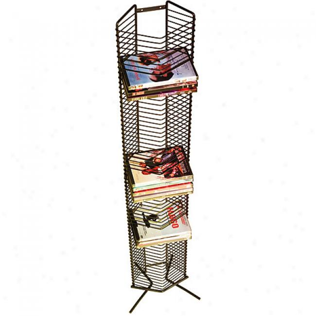 Atlantic Onyx 65-dvd Wire Rack, Black