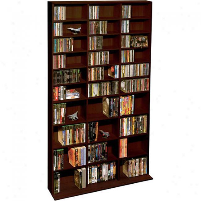 Atlantic Oskar 1080-cd Wood Cabinet, Espresso