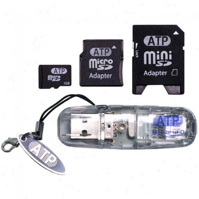 Atp 1 Gb Sd Trio Professional Plus: Microsd, Minisd, & Sd Usb Adapter/reader