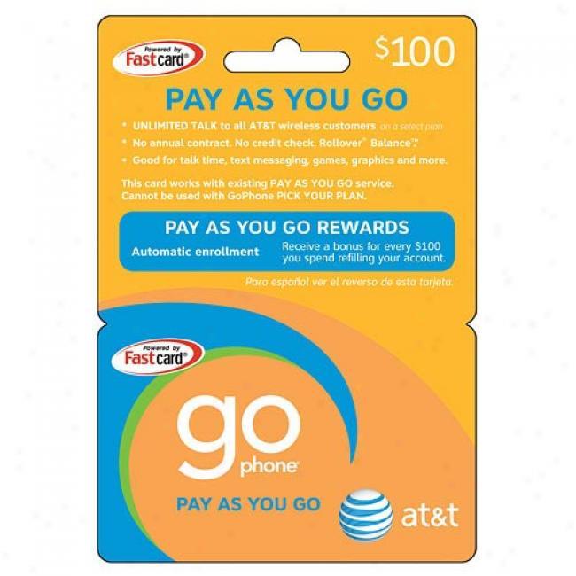 At&t $100 Prepaid Wireless Refill