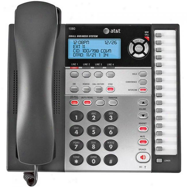 At&t 1080 Four-line Speakerphone W/ Caller Id Capability & Digital Answerer