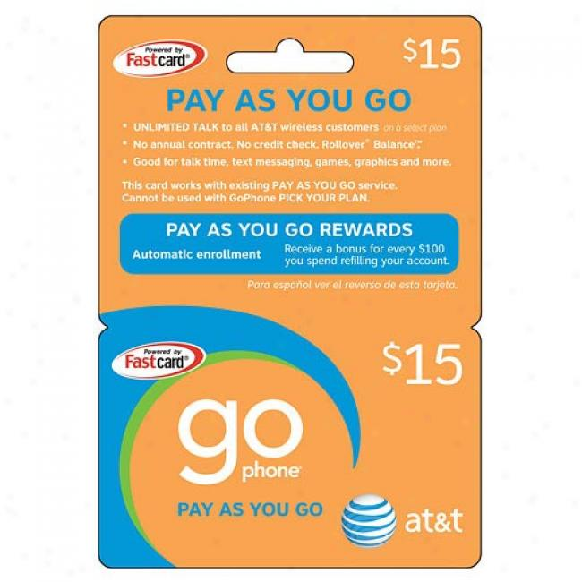 At&y $15 Prepaid Wireless Refill