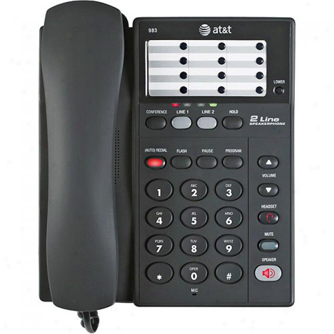 At&t 2-lin ePhone With Speakerphone