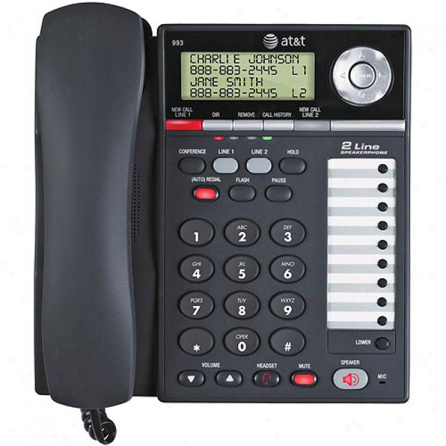 At&t 2-line Speakerphone With Caller Id And Call Waiting