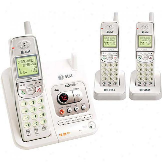 At&t 5.8a Phone Bundle 3 Pack With Caller Id And Answering System
