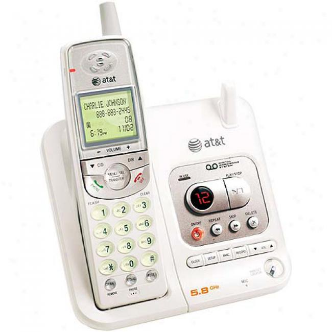 At&t 5.8a Phone With Caller Id And Answering System