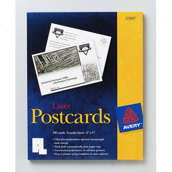 Avery oPstcards For Laser Printers, 4