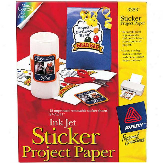 Avery Sticker Project Pwper, 15-pack