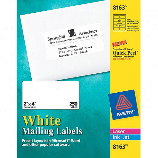 Avery White Shipping Labels For Inkjet Printers, 2