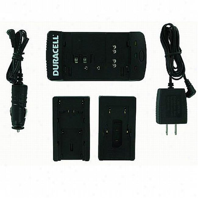 Battery Biz Duracell Camcorser Battery Charger With Two Plates