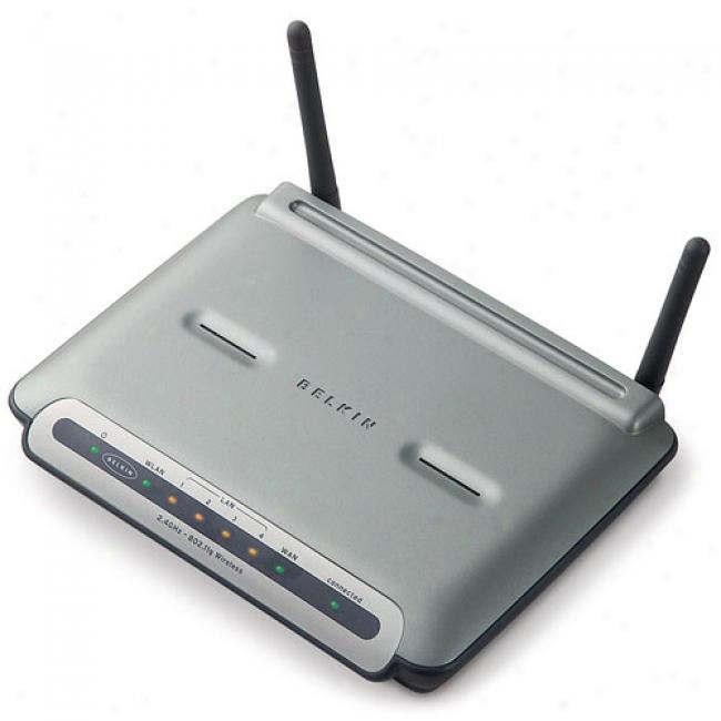 Belkin F5d7231-4 Wirelexs-g 125mbps Broadband Router